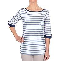 Tee-shirt femme M3/4 CELENA Blanc / Jean - HUBLOT