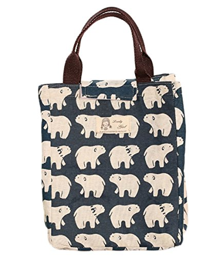 ced662b46917 Weimay Canvas Lunch Bag School Lunch Tote para Viajes y Picnic