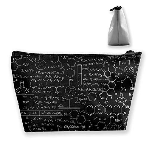 Kosmetiktasche Trapez Aufbewahrungstasche Chemie Wissenschaft Labor Wort Reise Kosmetiktasche Tolietry Taschen mit Reißverschluss
