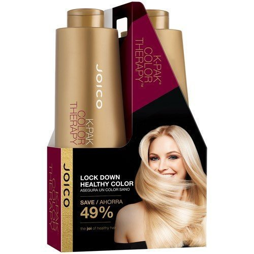 Joico K Pak Color Therapy Shampoo & Conditioner Liter Size Duo with Pumps! (1L/33.8 fl 0z) by Joico