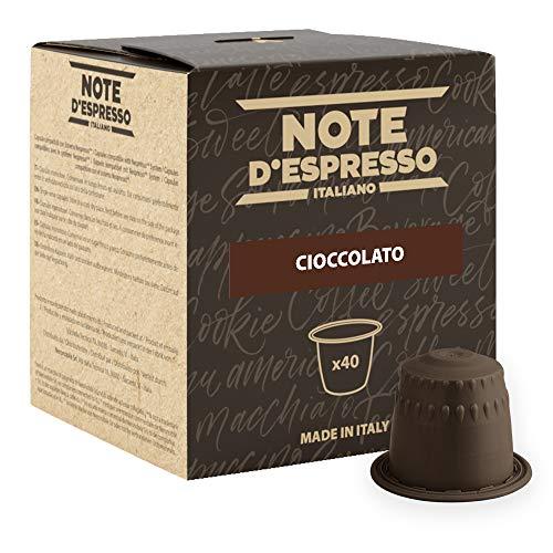 Note D\'Espresso Cioccolato Preparato Solubile in Capsule per Bevanda al Gusto di Cioccolato - 280 g (40 x 7 g)