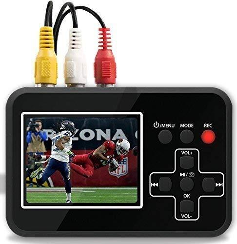 DIGITNOW! Video Grabber digitalisiert Videobänder direkt auf Speicherkarte, Video-zu-Digital-Konverter für Videorecorder, VHS-Kassetten, Hi8, Camcorder, DVD, VHS digitalisieren(schwarz)