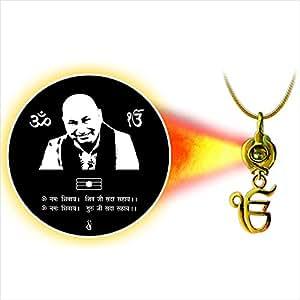 Dijyo Divine Darshan Gold Plated Chhatarpur Guruji Pendant For Unisex(SGP62GU)