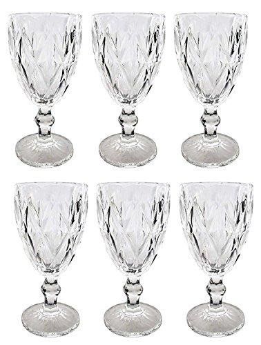 Vintage 6 Teile Set Rombe Klar 16-6 König Weinglas Glas Gläser Weingläser Wasserglas...