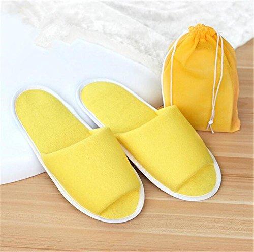 Pantofole da viaggio esterne da donna Pantofole da viaggio di viaggio di viaggio unica di una volta hotel 10 pz , A A