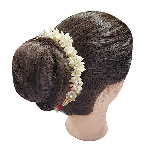 Focus Artificial Garland Flower Juda Gajra Hair Bun Accessory for Women -Pack of 2, Garland Juda Gajra Women Hair accessories For Bun Maker