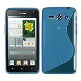 kwmobile Huawei Ascend Y530 Hülle - Handyhülle für Huawei Ascend Y530 - Handy Case in Blau Transparent