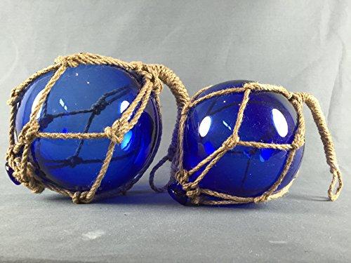 Deko - Fischerkugel aus Glas BASIC in blau mit Tauwerk - 17 cm Durchmesser Schwimmer Für Die Netze