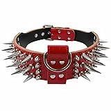 PET ARTIST Nietenhalsband Hundehalsband mit Nieten Leder Halsbänder Hunde Halsband,5 cm breit,3 Farben,M L XL