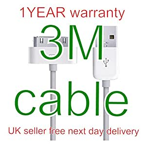 3M 10ft USB Data Sync Charger Cable for iPad 2 iPhone 4 4S iPod Touch