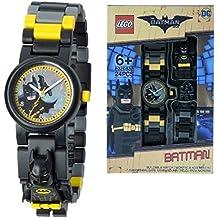 LEGO Batman Movie 8020837 Orologio da Polso Componibile per Bambini con Minifigure Batman, per Bambini, Nero/Giallo, Ragazzo/Ragazza, Quarzo Analogico