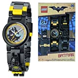 - 51nO49VdpuL - DC Comics Lego Batman Movie Batman Kids Minifigure Link Buildable Watch | Black/Yellow | Plastic | 28Mm Case Diameter| Analogue Quartz | Boy Girl | Official