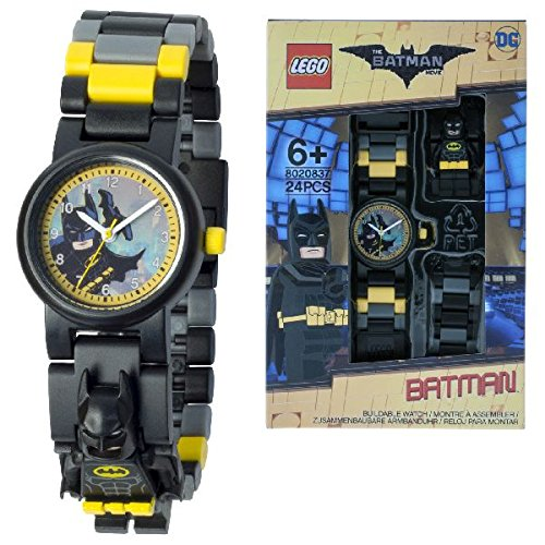 - 51nO49VdpuL - DC Comics Lego Batman Movie Batman Kids Minifigure Link Buildable Watch | Black/Yellow | Plastic | 28Mm Case Diameter| Analogue Quartz | Boy Girl | Official  - 51nO49VdpuL - Deal Bags