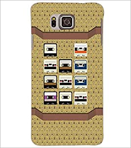 PrintDhaba Casettes D-4856 Back Case Cover for SAMSUNG GALAXY ALPHA (Multi-Coloured)