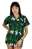 King Kameha Hawaiihemd Hawaiibluse Weihnachten, Christmas Buddys, grün, S