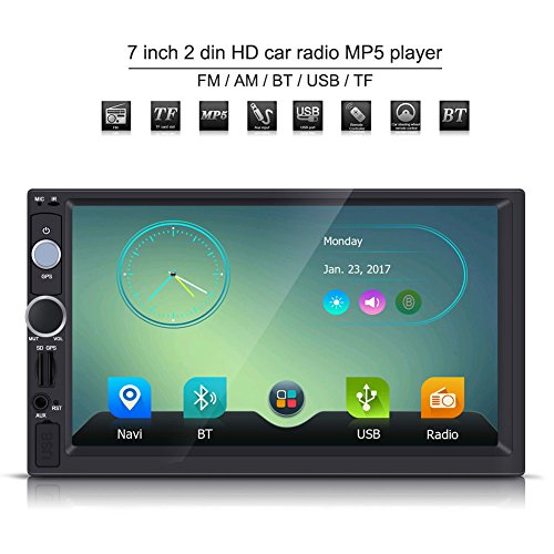 7 Zoll Audio Doppel Din 2 DIN HD Touchscreen Bluetooth GPS Autoradio FM/USB/AUX / MP5 Player Multimedia