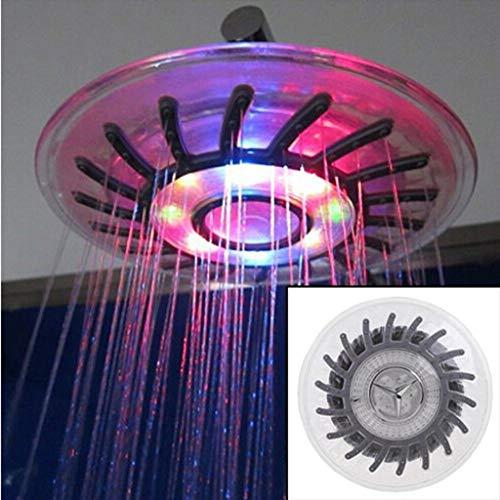 LED Regenduschkopf 8 Zoll Rund Top LED 7 Automatische Farbwechsel Spray Licht Wasser Sprinkler