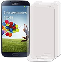 3 x Filmex Protector de Pantalla para Samsung Galaxy S4 (GT-i9500, i9505 LTE, i9502 Duos, i9506, i9515, S4 Google Edition, S4 Value Edition, SCH-i959) - Antibrillo (Anti-Reflejo), Japón PET de primera calidad, Kit de instalación, Garantía permanente