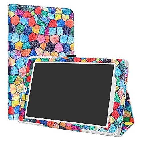 LiuShan Alcatel OneTouch Pixi 3 hülle, Folding PU Leder Tasche Hülle Case mit Ständer für 8