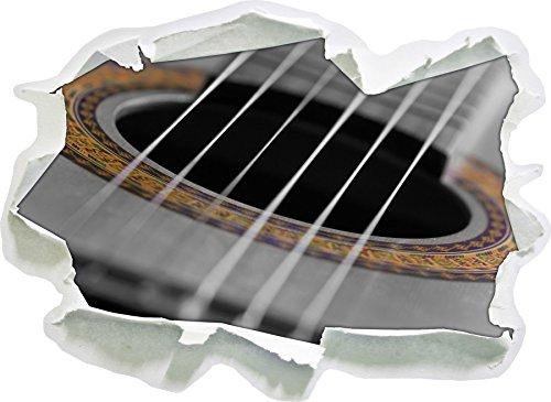 Stil.Zeit Verziertes Schallloch Einer Westerngitarre schwarz/weiß, Papier 3D-Wandsticker Format: 92x67 cm Wanddekoration 3D-Wandaufkleber Wandtattoo