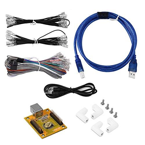 Zerone MR-P019 Arcade Steuerplatine, PC / PS3 Arcade auf USB Controller Board Schnittstelle Encoder mit USB Kabel und Verkabelung Kit