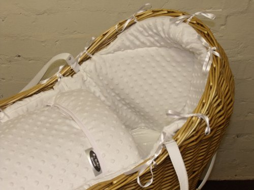 New cosy nest the snug replacement dressings minky dimple moses basket