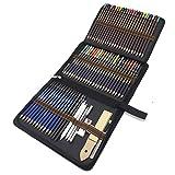 72 Stück Bleistifte Set, Skizzieren Zeichnen Stifte und Buntstifte Set mit Zeichnen Zubehör In Kit Bag für Zeichnung und Malbuch - Ideales Set für Künstler, Erwachsene und Kinder