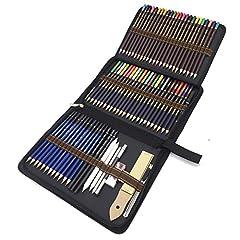 Idea Regalo - Matite di Disegno Artistico, 72 Kit Matite da schizzo e Matite Colorate di Grafite di Carbonio Matite di Legno, Fornire a Artista Professionale e Principianti