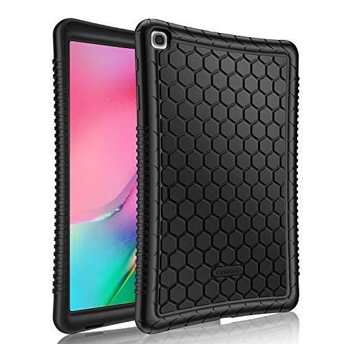 FINTIE Etui Compatible avec Samsung Galaxy Tab A 10.1 SM-T510 / T515 2019 - [Série Ruche] [Antichoc] [Adhérence] Housse Coque Protecteur en Silicone pour Tablette Samsung Galaxy Tab A 10.1 2019, Noir