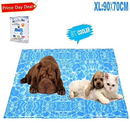 YGJT Tappetino Refrigerante per Cani Grande/XL e Animali Domestici Pad di Raffreddamento Automatico Stuoia per Cani per L'Estate(70X90CM)