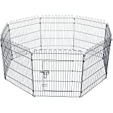 Foldable Pet Dog Playpen with 8 x Fences (91x71cm per Fence) for Puppy Training