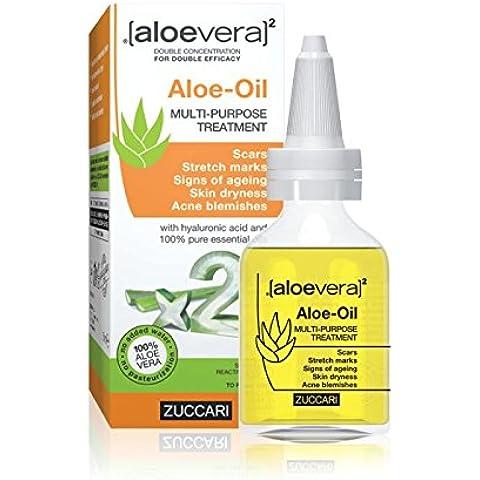 ZUCCARI [aloevera]², Olio dermocosmetico all'aloe, contro inestetismi della pelle, 50