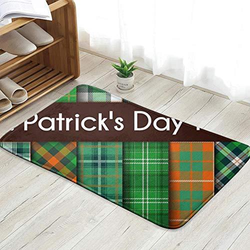 sexy world 16 S Green St Patricks Abstract Irish Doormat Entrance Mat Floor Mat Rug Indoor/Front Door/Bathroom/Kitchen and Living Room/Bedroom Mats 31.5 X 19.5 Inch -