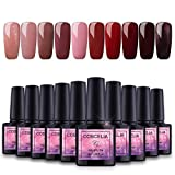 Saint-Acior Nail Art Gel Lack UV Nagellack UV Gelnägel Farben 10pc Gellacken uv Set 8ml Nail Gel Lack
