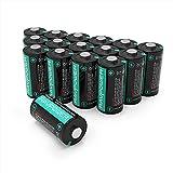 RAVPower CR123A Batterie al Litio 16 Pezzi, 3V 1500mA per Arlo Flashlight Fotocamera Digitale Torcia Giocattoli Microfono, Garanzia da 18 Mesi e Supporto Tecnico a Vita