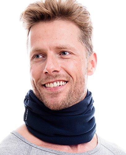 WÄRMENDES FLEECE Multifunktionstuch Polar Schlauchtuch das Halstuch für kalte Herbst und Wintertage. aktuelle Farben, Farbe Polar Tuch:Schwarz uni -