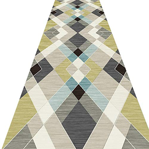 SESO UK- Nordic geometrischer Teppich Läufer für Flur Treppen, Gewerbe Haushalt Hotel Halle Langen Teppich Runner (Size : 120×300cm)