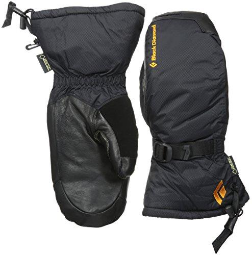 Black Diamond Super Light Mitts Handschuhe mit GORE-TEX-Einsatz/Wasserdichte Fausthandschuhe zum Bergsteigen mit griffiger Handfläche/Unisex, Black, Größe: XS