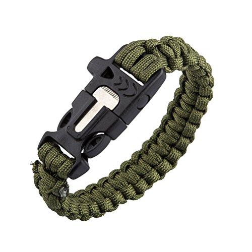 pixnor-brazalete-de-supervivencia-paracord-con-iniciador-de-fuego-y-silbato-verde-militar