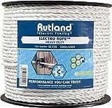 Rutland Cavo per recinto Elettrico per Animali - 200 Metri di Lunghezza, 6mm di Diametro [Bianco]