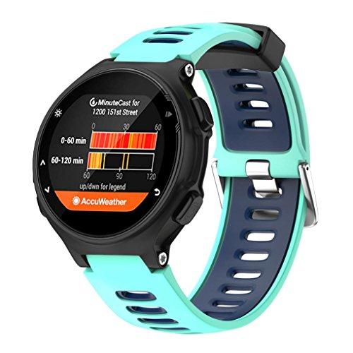 Fossen Moda Sport Pulsera de Reloj Reemplazo Banda Correas para Garmin Forerunner 735XT (Azul)