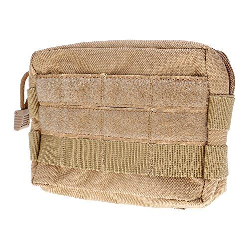 ?HuntGold Outdoor Sport Wasserdicht Taktisch Militärisch EDC Beutel Taille Pack Tasche Handytasche Schlammgelb