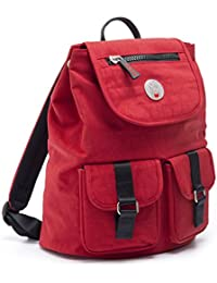 CRISTINA GIRL Womens Casual Backpack Crinkle Nylon Lily Collection