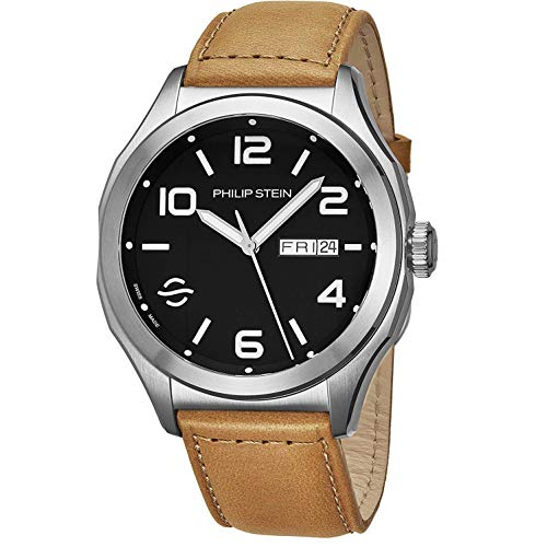 Philip Stein Men's Prestige 44mm Leather Band Automatic Watch 16AWLBKCISCRP