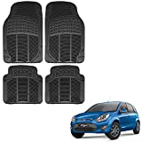 #10: Vheelocityin Ford Figo Old Car Mat Black/Black Rubber Foot Mat for Ford Figo Old