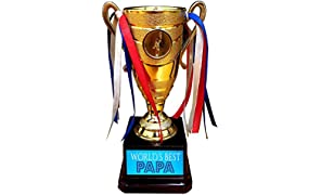 YaYa cafe Worlds Best Papa Trophy Golden Champion Award for Father