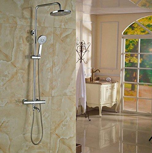 Gowe doppelte Griffe Badezimmer 8-in Rainfall Dusche Wasserhahn Thermostat Dusche Einheiten Wand montiert -