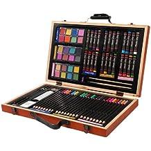 Darice 1103-08 - Caja de madera con set artístico profesional, multicolor