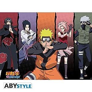 """ABYstyle Póster de abecedario (Naruto Shippuden) de Shippuden Group # 1"""" (52 x 38)"""