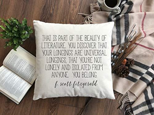 Miiyu6Bird F Scott Fitzgerald Zitat Kissenbezug Literatur Zitat Kissenbezug Zitat Kissenbezug Die Schönheit der Literatur Zitat Kissen Geburtstag Geschenk